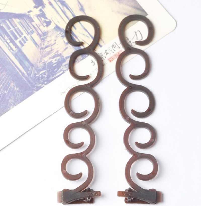 Centopéia 2Pcs Moda Feminina Torção Do Cabelo Mágico Styling Clipe Vara Bun Criador Braid Ferramenta DIY Acessórios De Cabelo Faixa de Cabelo