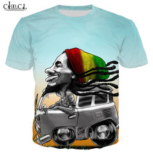 Tee Men T Shirt 3D T-Shirt Tshirt Men's Shirt Fitness Sport Bob Marley Print Rock Hip Hop Reggae Creator Clothing Funny T Shirts