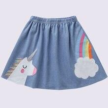 Джинсовая юбка пачка для девочек с эластичным поясом