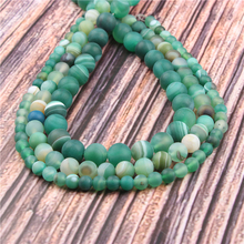 Hot?Sale?Natural?Stone?Green Stripes15.5?Pick?Size?6/8/10/12mm?fit?Diy?Charms?Beads?Jewelry?Making?Accessories