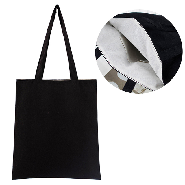 Universal Shopping Bag Large Capacity Cotton Blend Solid Tote Eco Freindly Multipurpose Reusable Natural Storage School #734 2