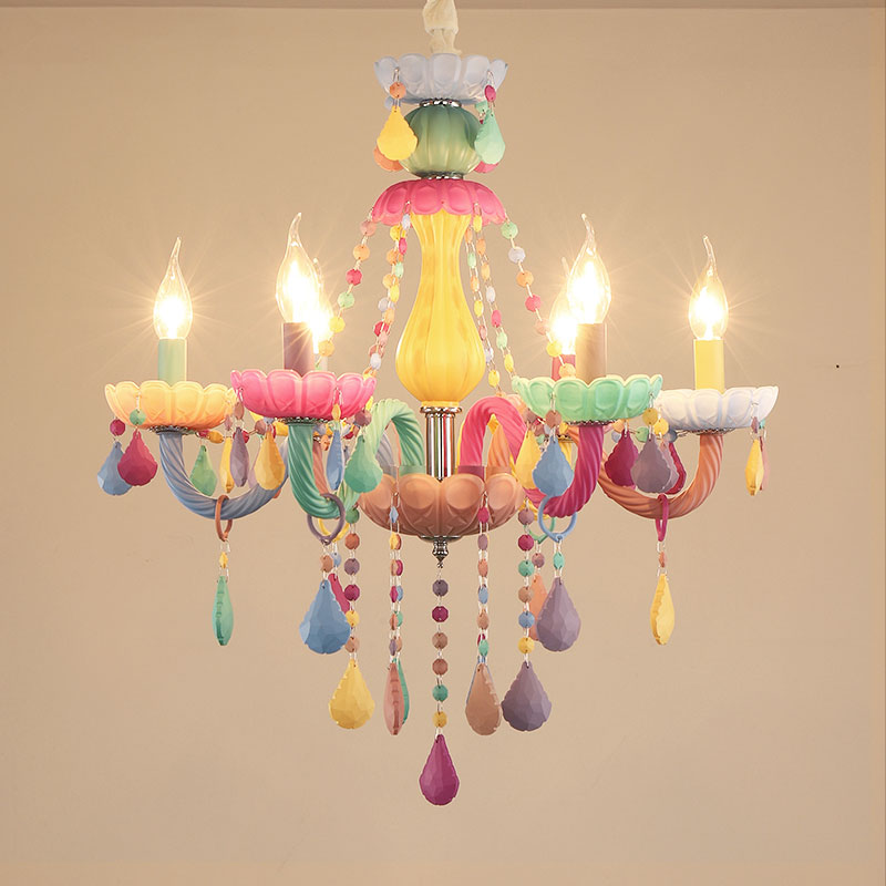 moderno colorido luzes lustre cristal lustre 01