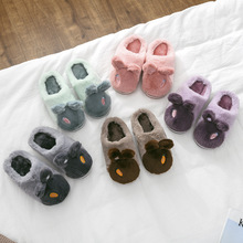 Buy Children Warm Slippers Kids Winter Fur Slippers Toddler Girls Cute Rabbit Ears House Shoes Boys Home Slippers Pantuflas directly from merchant!