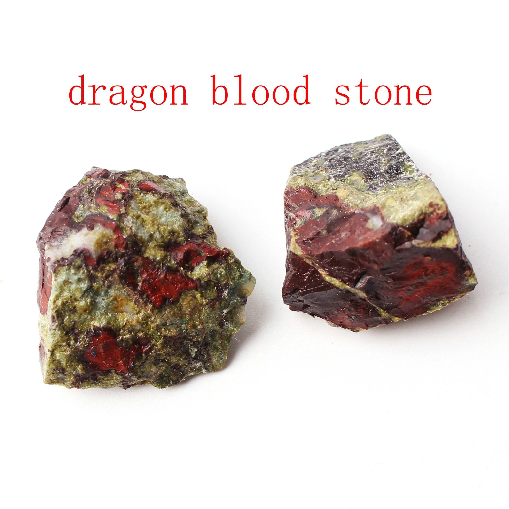 2PC Or More Natural Crystal Quartz Dragon Blood Stone Minerals Specimen Irregular Shape Rough Stone Reiki Healing Home Decor