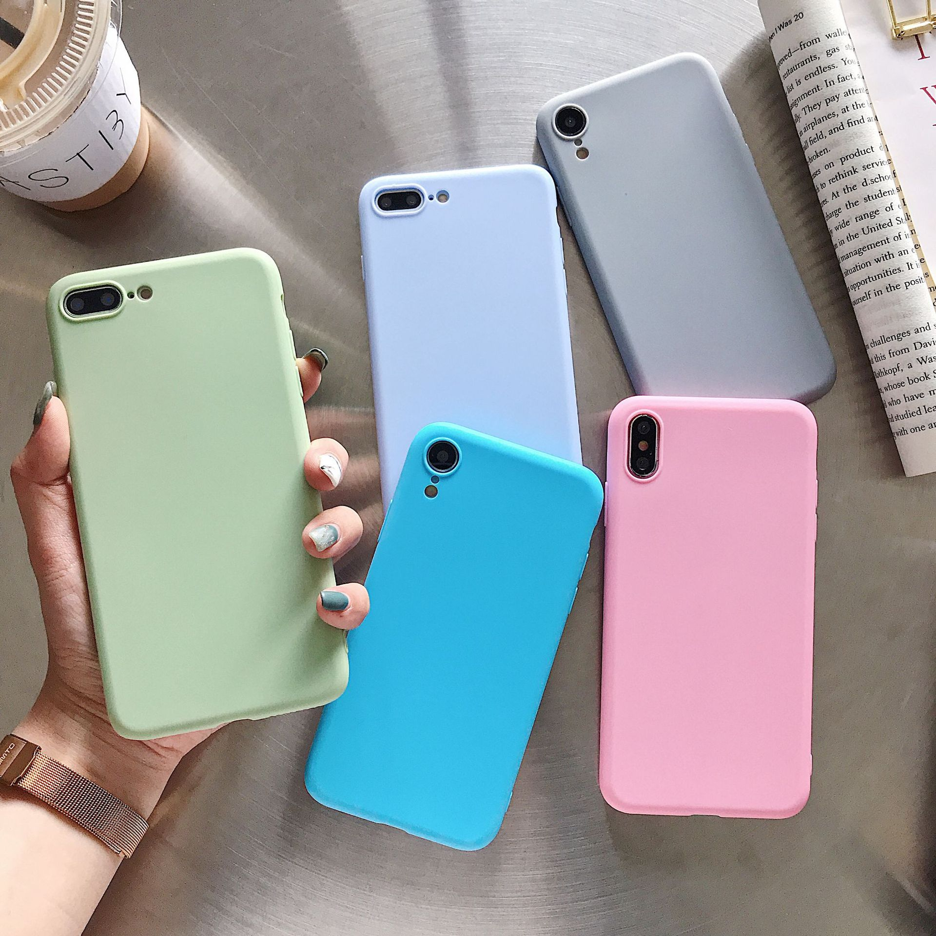 Ultra Thin Matte Candy Case For Moto G7 G6 G5 G5s G4 P30 E5 E4 C X4 Z2 Z3 Plus Play Power Note Pro Power Matte Clear TPU Cover