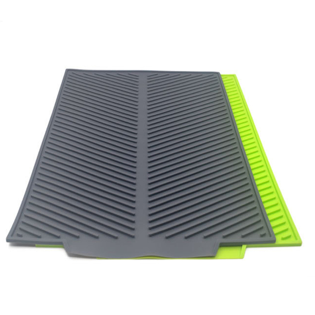New Drain Mat Kitchen Silicone Dish Drainer Tray Large Sink Drying Worktop Organizer Drying Mats for Dishes Tableware 2