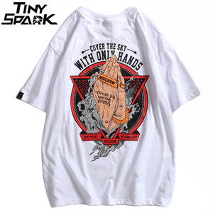 Image 3 - 2020 Spring Hip Hop T Shirt Men Powerful Hands Printed T Shirts Harajuku Streetwear Summer Tshirt Short Sleeve Tops Tees Cotton