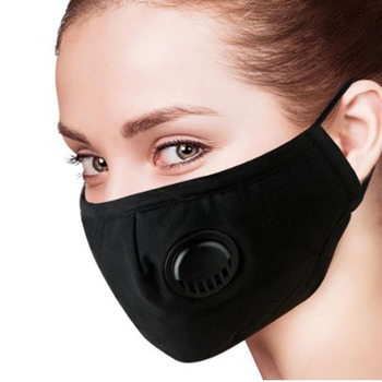 PM2.5 Dust Mouth face Mask Anti Virus proof Breathable  flu Mask Cotton Washable Respirator breathing mask Pluggable filter