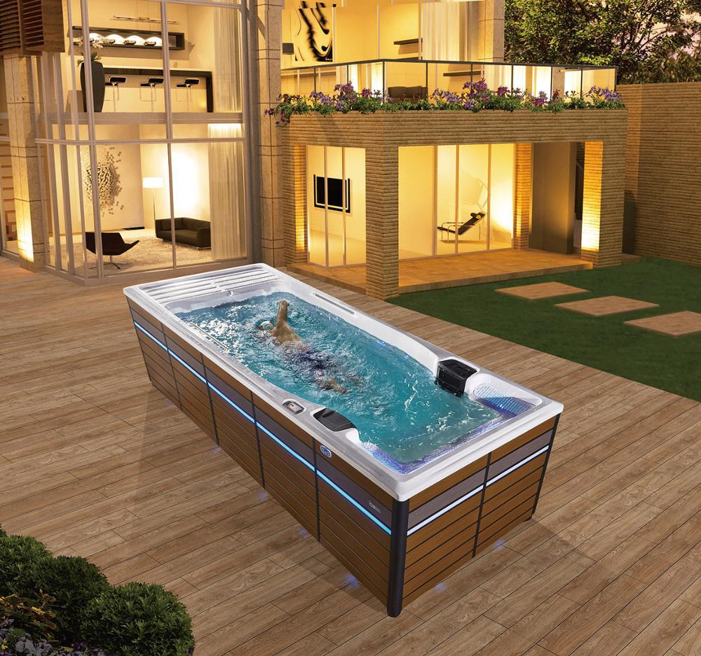 Fábrica promoção fábrica piscina exterior com escadas piscina metal quadro BG-6658-0
