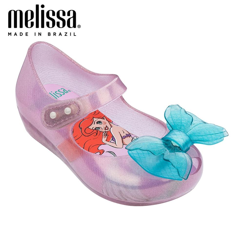 Mini Melissa Ultragirl + Little Mermaid Girl Jelly Shoes Sandals 2020 NEW Baby Shoes Soft Melissa Sandals For Kids Non-slip