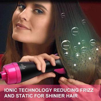 Haar Trockner Pinsel Eine Schritt Haar Trockner Volumizer 3-in-1 Negative Ionen Richt Pinsel Salon Lockiges Haar Kamm Reduzieren Frizz Statische