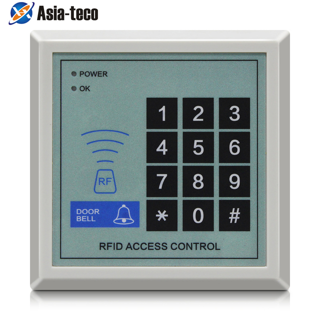 125Khz RFID Access Control System Device Machine Security RFID Proximity Entry Door Lock 1000 user Access Control Accessories