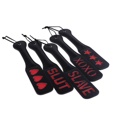 Bondage Set Slave Love Slut SM Flog Spank Paddle Beat Submissive Slave BDSM Pink Kinky Fetish Whip Sluts Paddles Adult Sex Toys
