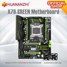 HUANANZHI X79 vert X79 carte mère LGA2011 ATX USB3.0 SATA3 PCI-E NVME M.2 SSD support REG ECC mémoire et Xeon E5 V1 V2