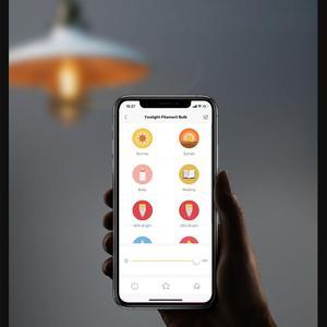 Image 5 - Lâmpada de filamento inteligente yeelight, led, 2020 lm, 6w, wi fi, controle remoto, funciona com o aplicativo móvel homekit da apple,