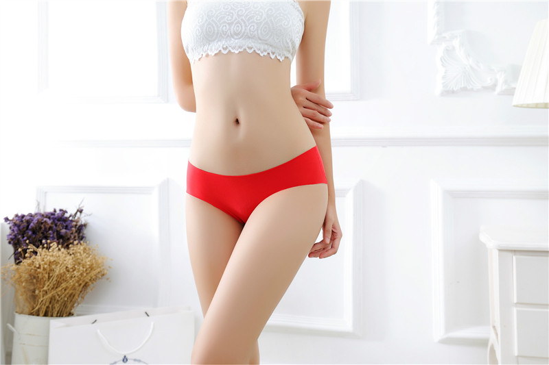 Women's Low Waist Sexy Seamless Breathable Panties 16