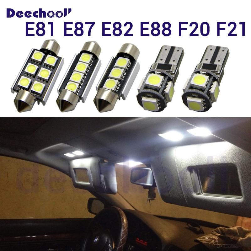 Canbus LED Car Interior Light Bulbs Kit For BMW 1 Series E81 E87 E82 E88 F20 F21 116i 118i 120i 125i 130i 135i M135i 2003-2014