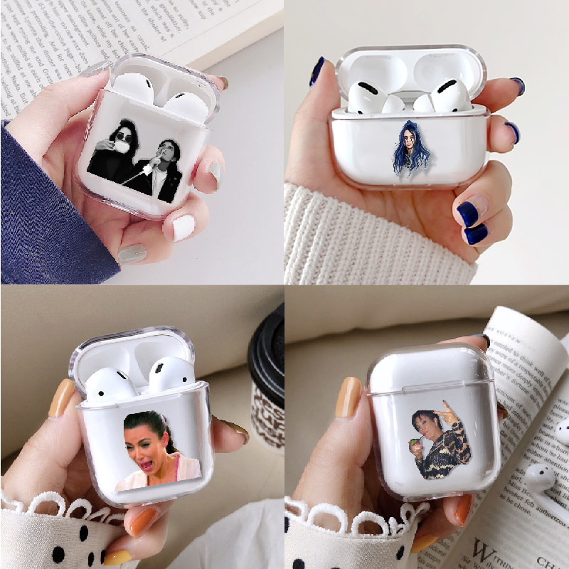 Pop Star Celebrity Earphone Case For Apple iPhone Charging Box For AirPods Pro Hard Transparent Protective Cover Accessories