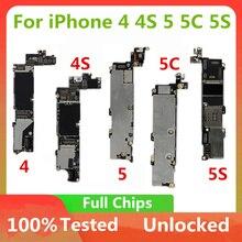 마더 보드 아이폰 4 4S 5 5C 5S 6P 7P 7 마더 보드 잠금 해제 공식 버전 로직 보드 OS 시스템 터치 id없이
