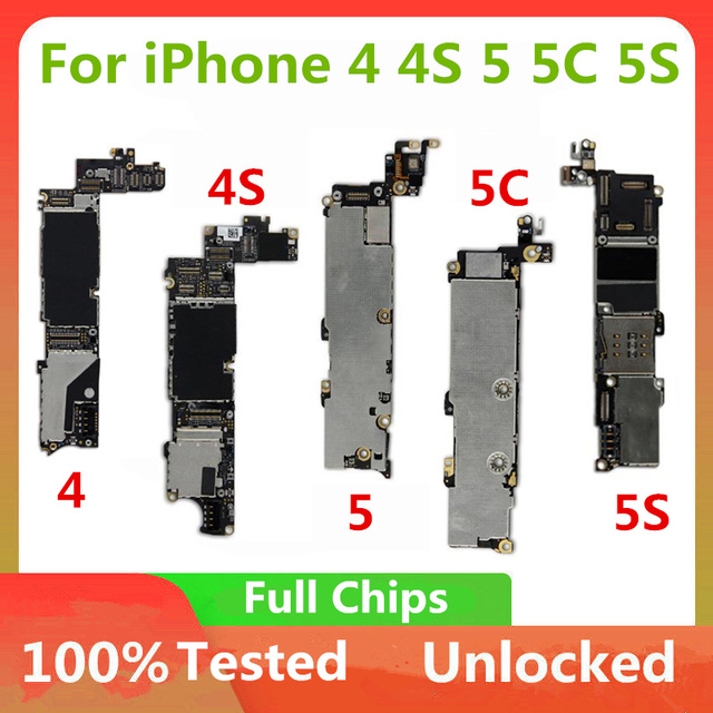 Motherboard For iPhone 4 4S 5 5C 5S 6P 7P 7 Motherboard Unlocked Official Version Logic board With OS System Without Touch ID