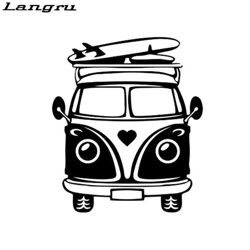 Langru Camper стикер Decker путешествия серфинг скейтборд Летняя Пляжная Ткань океан