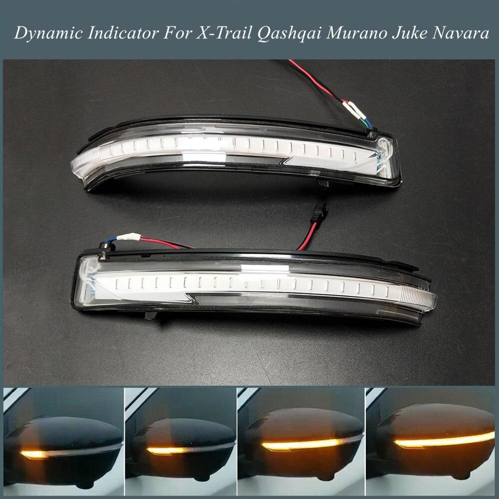 Pour Nissan X-trail T32 Rogue Qashqai J11 Murano Z52 Juke Navara Pathfinder LED Clignotants Dynamiques Rétroviseur Indicateur Lumineux
