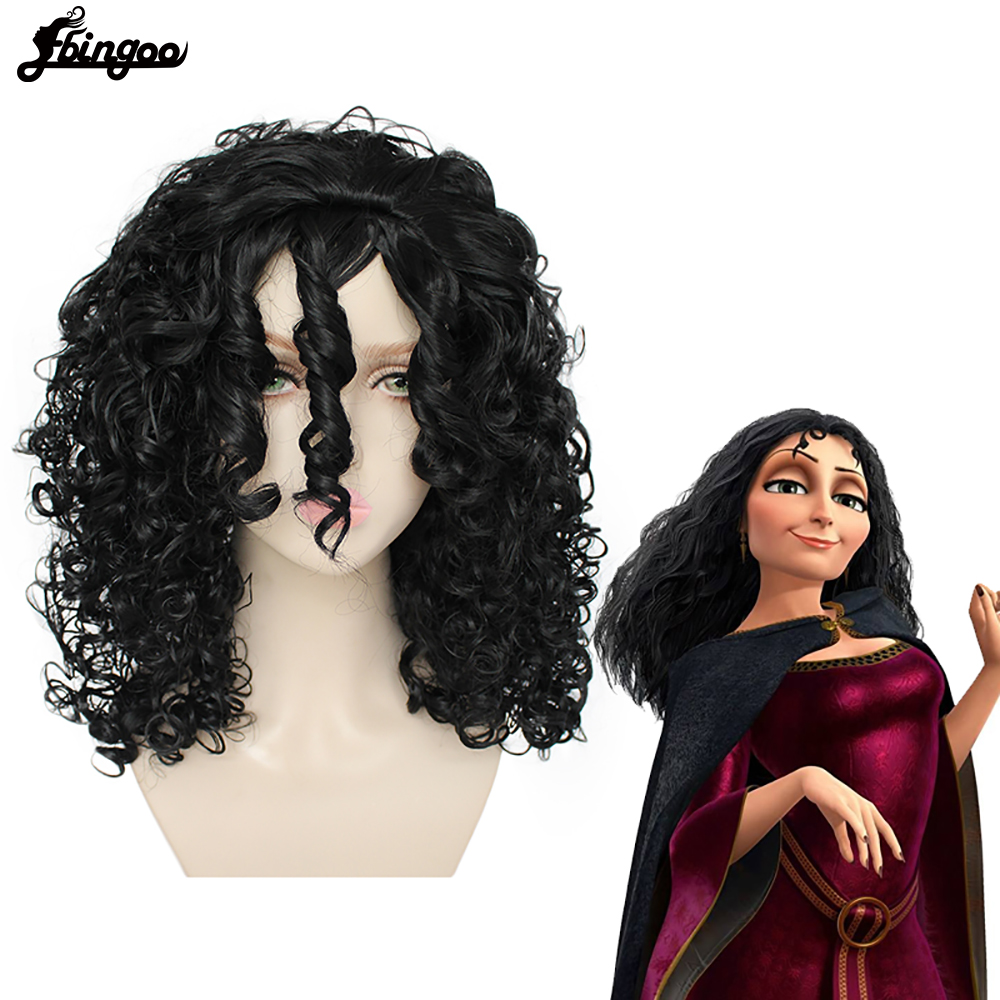 NEW Women/'s Ombre Long Curly Wig Anime Halloween Cosplay Costume Brown Blue