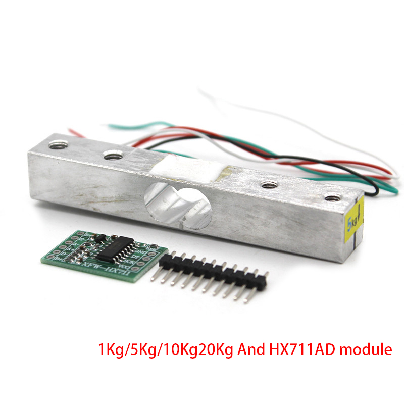 Load Cell Weight Sensor 1KG 5KG 10KG 20KG HX711 Module Electronic Scale Aluminum Alloy Weighing Pressure Sensor Ad Module