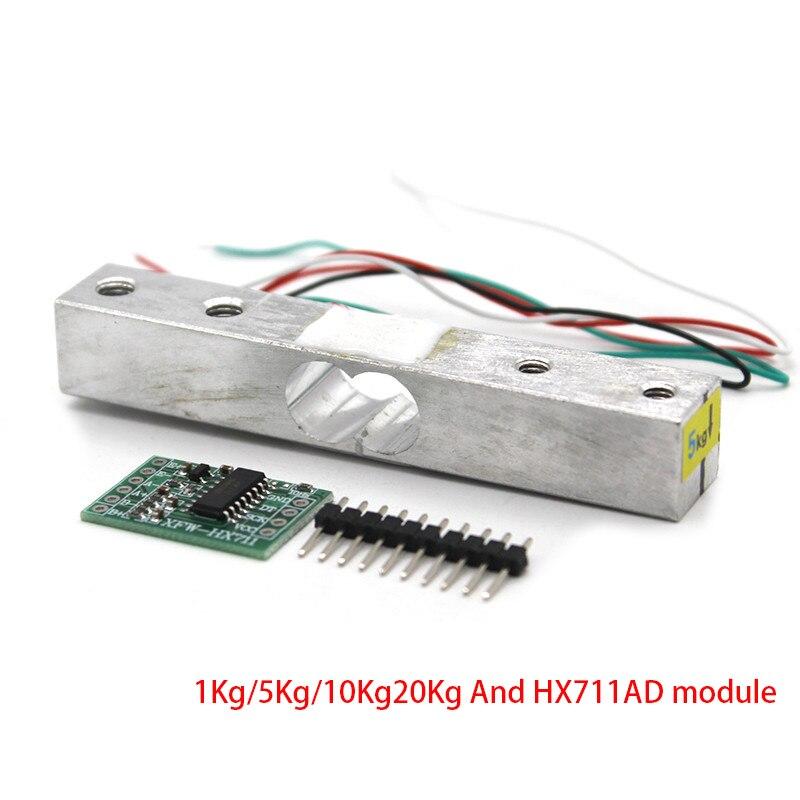 Load Cell Weight Sensor 1KG 5KG 10KG 20KG HX711 Module Electronic Scale Aluminum Alloy Weighing Pressure Sensor Ad Module