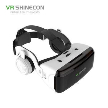 HiMISS VR Realidad Virtual 3D caja de gafas estéreo VR Google cartón casco para IOS Android Smartphone, Bluetooth Rocker