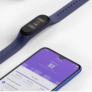Image 5 - Stokta orijinal Xiaomi Mi Band 4 akıllı renkli ekran akıllı bilezik kalp hızı spor 135mAh Bluetooth 5.0 50M yüzme su geçirmez