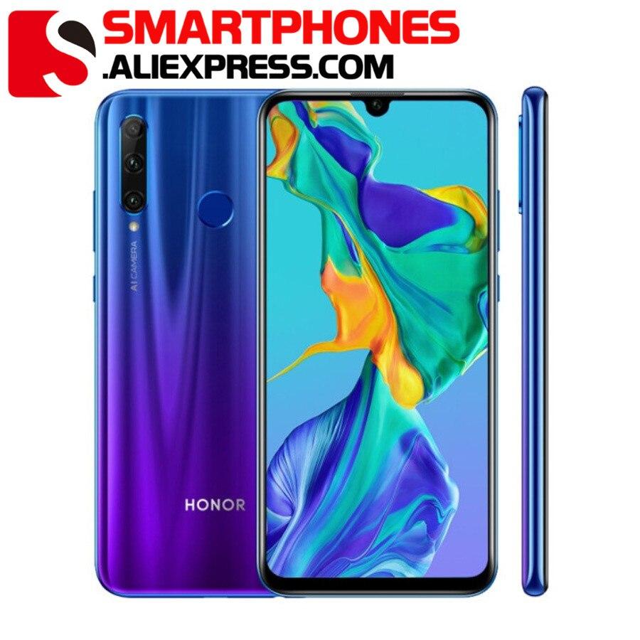 "Global ROM Honor 20i Honor 10i téléphone portable 6.21 ""6GB RAM 64GB ROM Octa Core Kirin 710 Android 9.0 32.0MP téléphone avec empreinte digitale"