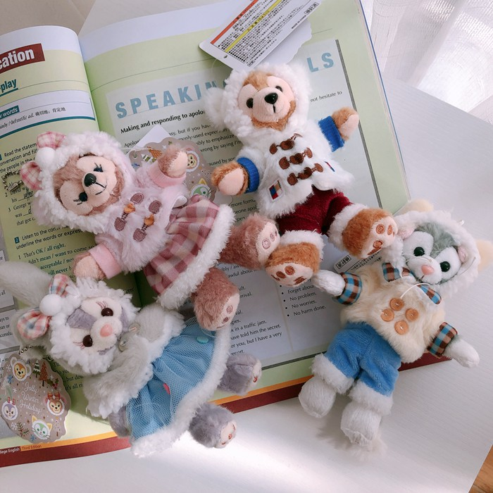 1 шт. новые Duffy Медведь Друзья стеллау плюшевые игрушки зимняя ткань мультфильм кролик с платьем Маленькая подвеска 12 см