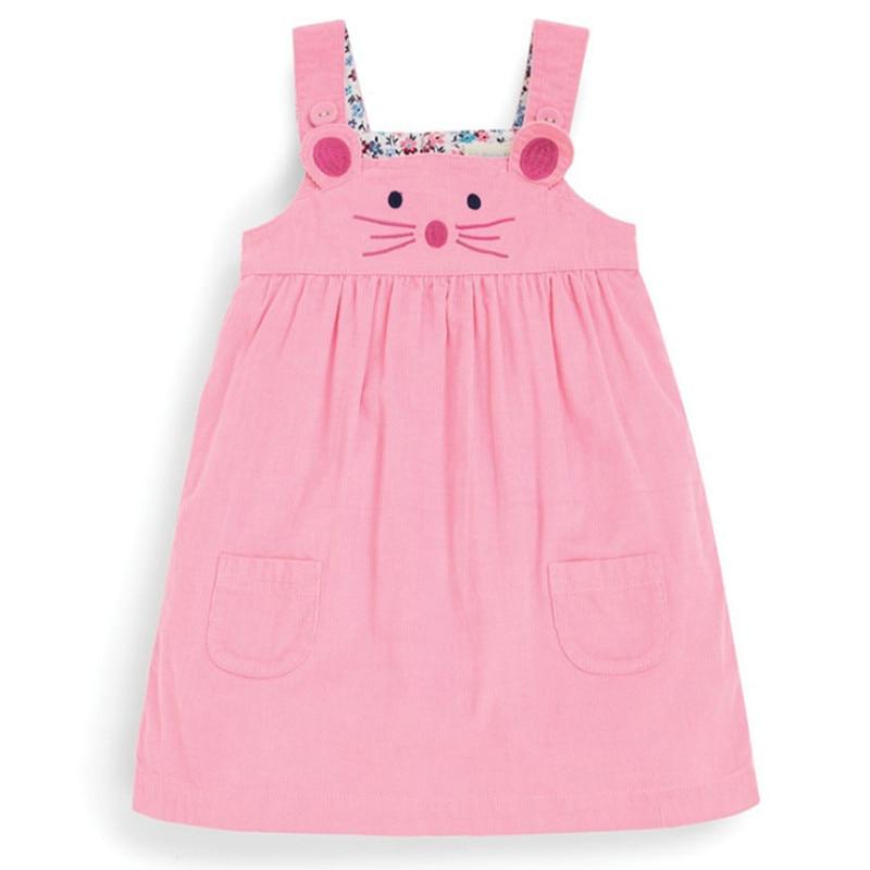 Little maven kids brand clothes 2019 autumn baby girls clothes Cotton FRUIT ANIMAL applique dot sundress girl sleeveless dresses 5