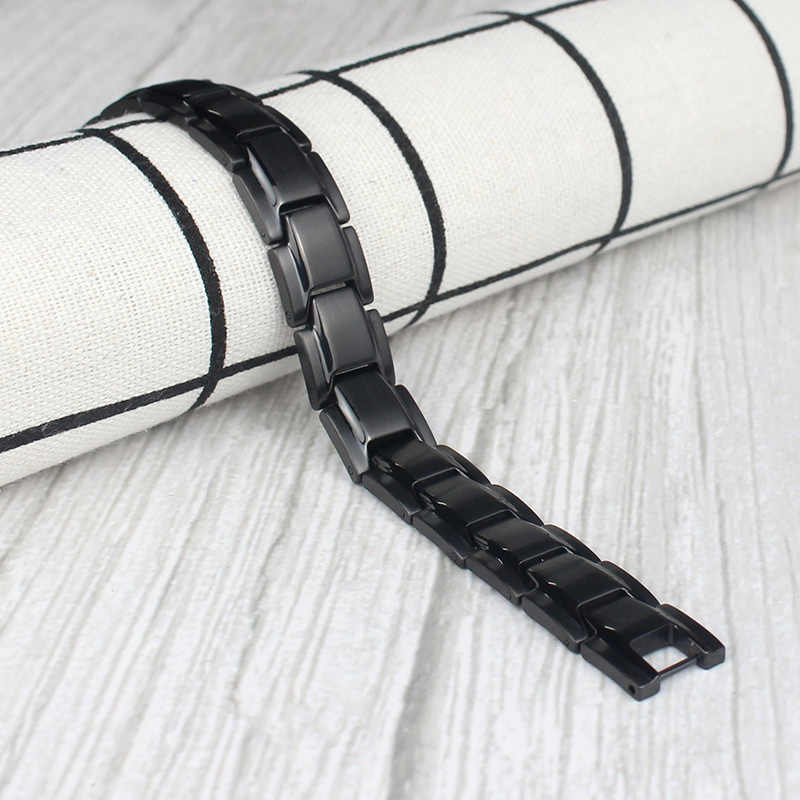 Bracelets de Bracelet de thérapie magnétique en acier titane Bracelet de guérison d'énergie thérapeutique JAN88