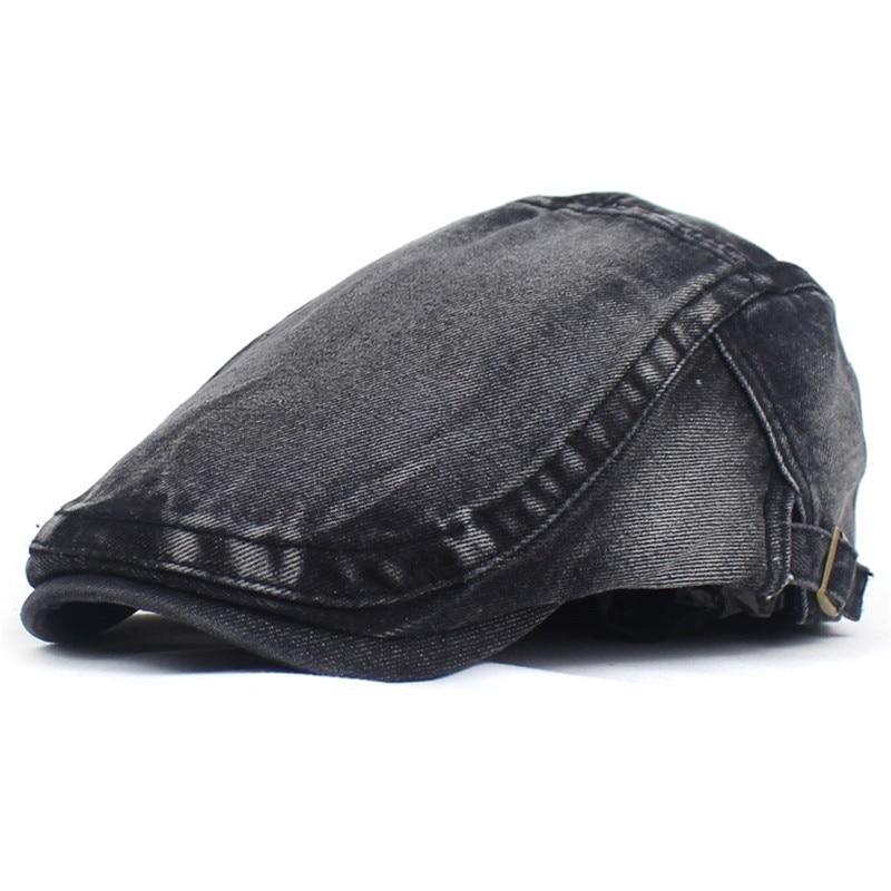 2020 Newsboy Caps Cotton Flat Peaked Cap Men and Women Painter Beret Hats 10