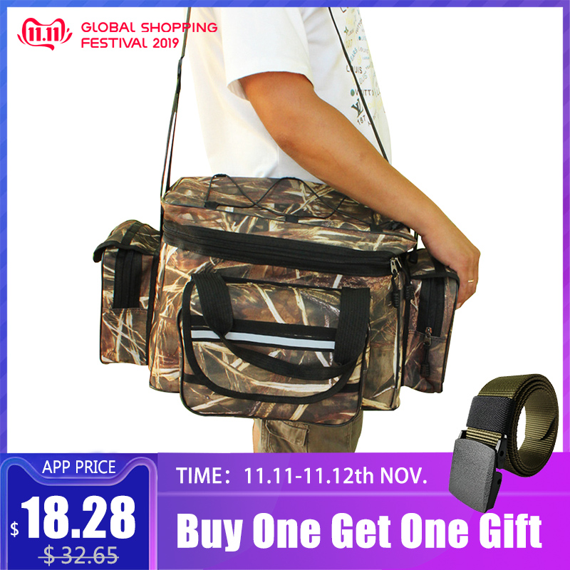 Multifunctional Mountaineering Bags Tackle Handbag Fish Gear Reel Lure Bag Storage Pack Mochila Sac De Peche Hengelsport XA2G