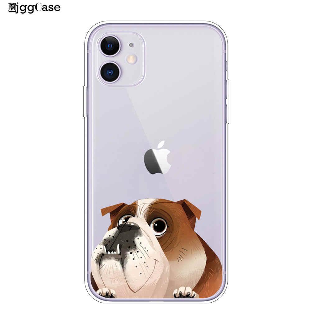 Ốp Lưng TPU Cho iPhone 11 Pro X XR XS Max 8 7 Chó Pug Pháp Bulldog Silicone Mềm Mại Ốp Lưng cho iPhone 8 7 6 S 6 S Plus Ốp Lưng Điện Thoại