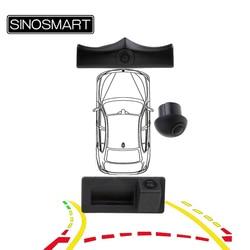 SINOSMART CanBus Reversing Parking Dynamic Trajectory Front Rear Multi-Cameras for Octavia Tiguan Golf Bora POLO Q5 A4 Q3 A5