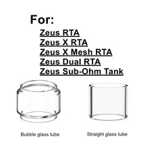 HXJVAPE Original Pyrex Bubble Bulb Glass Tube Tank Fit For Geekvape Zeus X/Zeus Dual/Zeus X Mesh Coil RTA Atomizer tANK