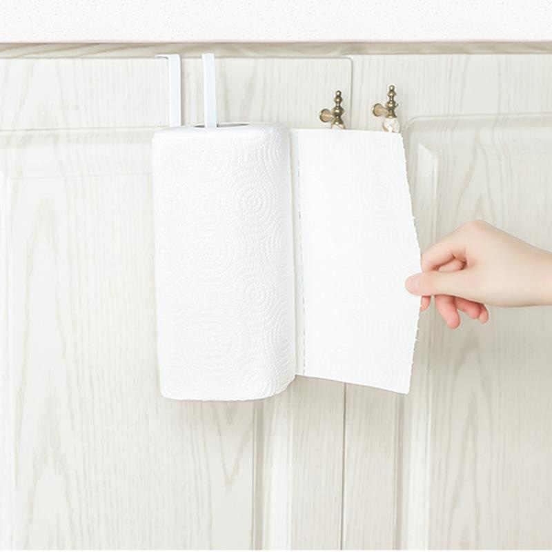 1Pc Cucina Rotolo Di Carta Asciugamano Rack di Stoccaggio Del Tessuto Armadio Appendiabiti Appeso Mensola del Bagno Carta Igienica Rack Organizer