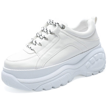 women's sneakers white pu leather Female Platform Sneakers V
