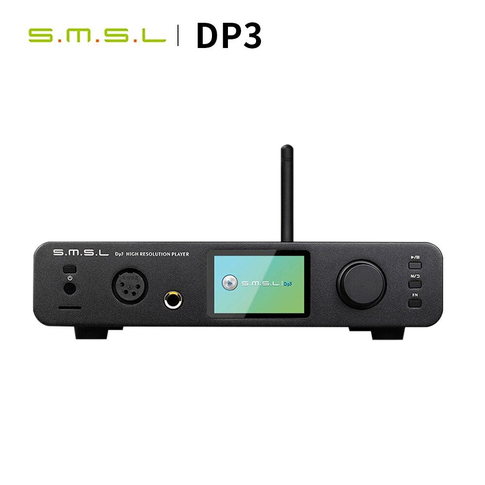 SMSL DP3 Hause DSD DAC Verstärker Audio ES9018Q2C DAC USB Amp Hifi Digital Player Koaxial Verstärker Bluetooth mit Kopfhörer Amp