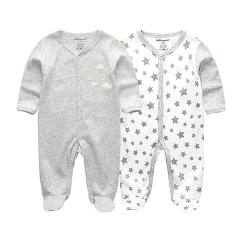 0-12Months Baby Rompers Newborn Girls&Boys 100%Cotton Clothes of Long Sheeve 1/2/3Piece Infant Clothing Pajamas Overalls Cheap - RFL2102, 3M