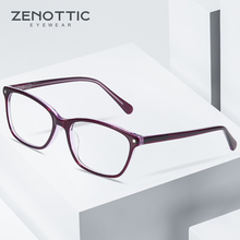 ZENOTTIC אצטט מסגרת משקפיים לנשים משקפיים אופטיים משקפיים אופנה עיצוב קוצר ראייה משקפיים Eyewear 2019 BT3031