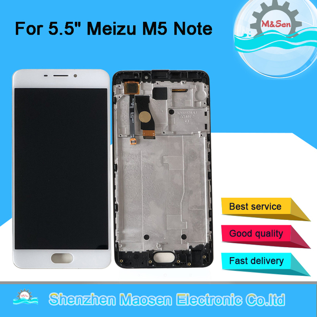 "5.5"" M&Sen For Meizu M5 Note Meilan Note 5 M621Q M621M M621C M621H LCD Screen Display+Touch Panel Digitizer With Frame"