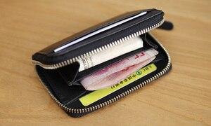 Image 3 - LANSPACE brieftasche karte halter echtes leder kreditkarte halter berühmte marke geldbörsen halter