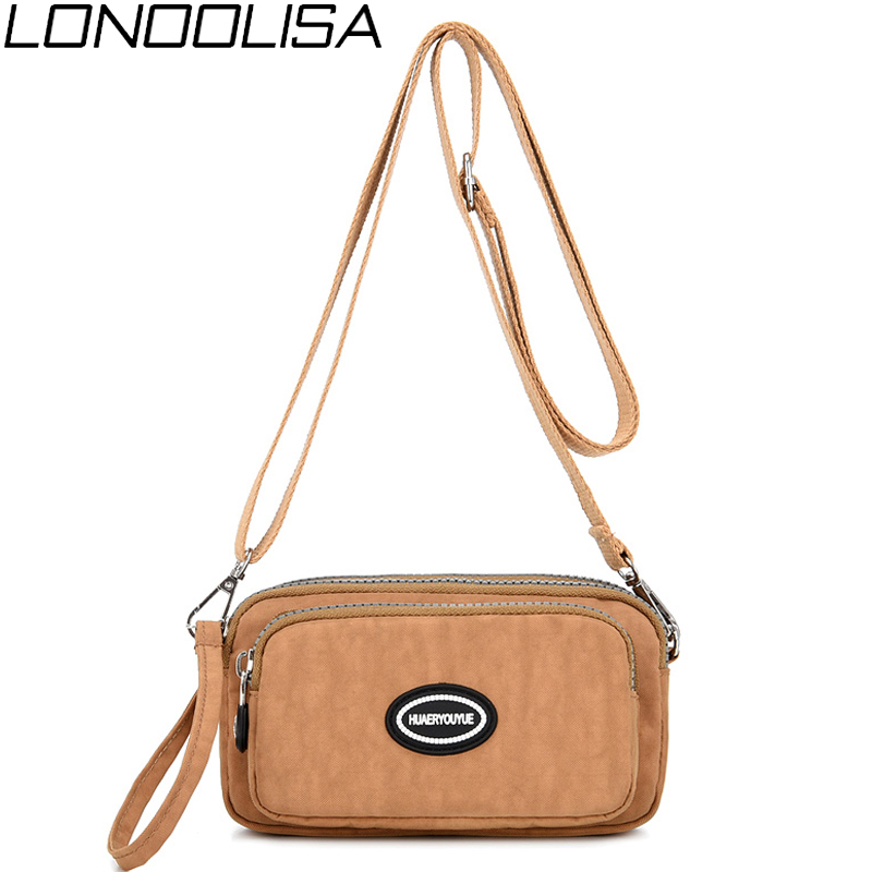High Quality Waterproof Nylon Ladies Shoulder Bags Mini Crossbody Bags For Women Light Daily Travel Women Clutch Bag Phone Bag