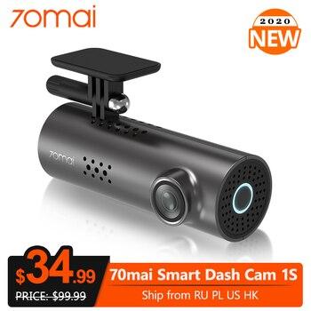 70mai Dash Cam 1S APP English Voice Control Car DVR Camera Wifi 1080P HD Night Vision G-sensor 70 Mai 1S Dashcam Video Recorder