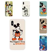 For Apple iPhone 4 4S 5 5C 5S SE 6 6S 7 8 Plus X XS Max XR Transparent TPU Cases Cover Retro Mickey Mouse(China)
